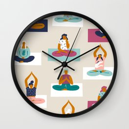 Morning yoga Wall Clock