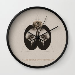 Be gentle with yourself Wall Clock