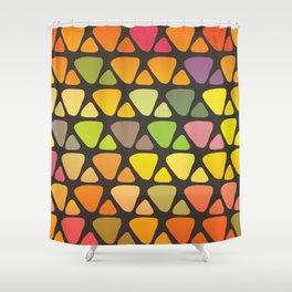 Bright colorful abstract triangles retro pattern Shower Curtain
