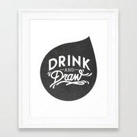 logo Framed Art Prints featuring Logo by drinkanddrawmilano
