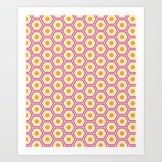 Colored Hexies Art Print
