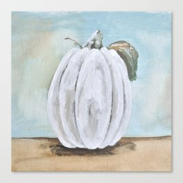 Tall white pumpkin Canvas Print