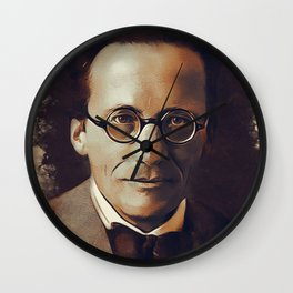 Erwin Schrodinger, Physicist Wall Clock