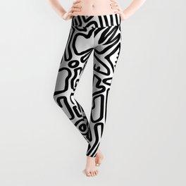 black & white doodle Leggings