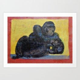 Gorillas Art Print