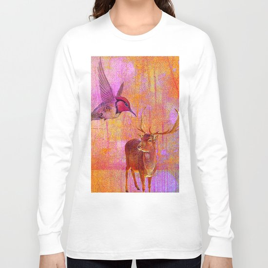The loves platonic of the hummingbird and the deer Long Sleeve T-shirt