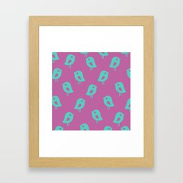 Little Birds (purple) Framed Art Print