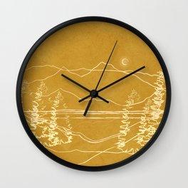 Minimalist Landscape Line Art I Wall Clock