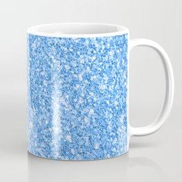 Blue glitter texture print Coffee Mug