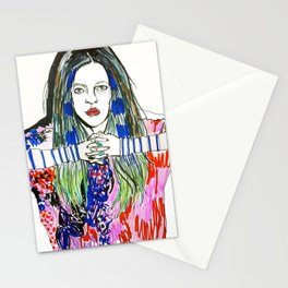 COLOURFUL GIRL Stationery Cards
