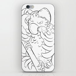 Pirate Parrot - ink iPhone Skin