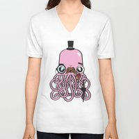 crab V-neck T-shirts featuring Oh Crab! by Tratinchica
