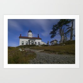 Morning at Battery Point Lighthouse, Crescent City, California Art Print