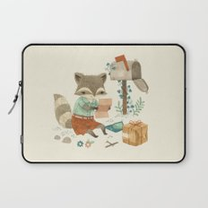 Raccoon Post Laptop Sleeve