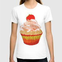 cupcakes T-shirts featuring Cupcakes by Alexandra Baker
