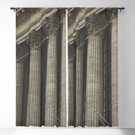 New York, Wall Street, stock exchange building, US flag, I love NY Blackout Curtain