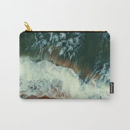 aerial view of seashore at daytime Carry-All Pouch