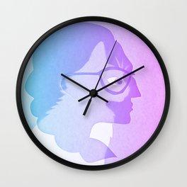The cat inside - bicolor Wall Clock