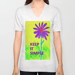 Wildflower Keep It Simple Unisex V-Neck