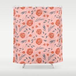 Warm Autumn pattern 2 Shower Curtain