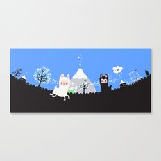 Run alpaca, run! Canvas Print