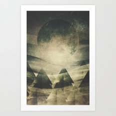 We are children of the moon Art Print