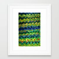 green pattern Framed Art Prints featuring Green pattern by Nato Gomes