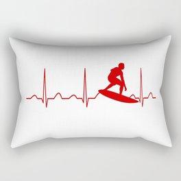 SURFING MAN HEARTBEAT Rectangular Pillow