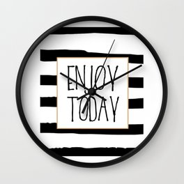 ENJOY TODAY SIGN, Motivational Art,Motivational Quote,Office Wall Art,Relax Poster,Buddha Art,Fashio Wall Clock