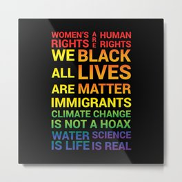 Women's Rights are Human Rights Metal Print