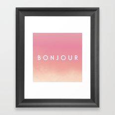 Bonjour II Framed Art Print