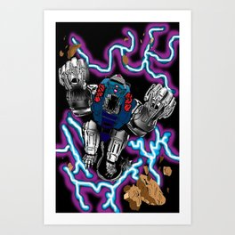 Blue Lion Mech Art Print