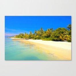 Tropical Island Beach Vacation Canvas Print