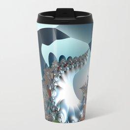 On the Edge of a Fantasy Landscape -- fractal art by Twigisle at Society6 Travel Mug