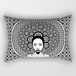 Sixties woman black and white Rectangular Pillow