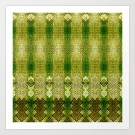 """Green diamonds pattern"" Art Print"