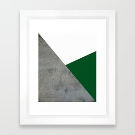 Concrete Festive Green White Framed Art Print