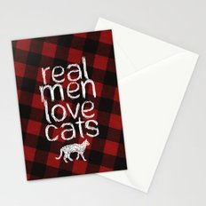Real Men Love Cats Stationery Cards