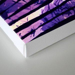 purple floral stripes Canvas Print