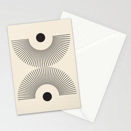 Abstraction_NEW_SUNSHINE_SUNRISE_LINE_POP_ART_100A Stationery Cards