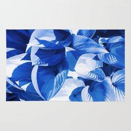 Botanic leafage - cobalt Rug