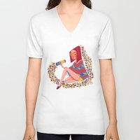 kaleidoscope V-neck T-shirts featuring Kaleidoscope by Hannah Lee Stockdale