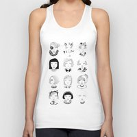 faces Tank Tops featuring Faces by Amy Lee