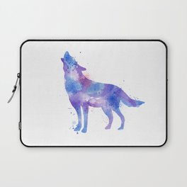 Watercolor Wolf Laptop Sleeve
