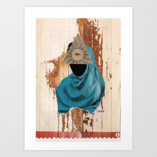 over Art Print