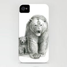 Polar bear and cub SK041 iPhone (4, 4s) Slim Case