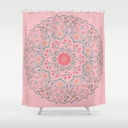 Flower Rounds Mandala Shower Curtain