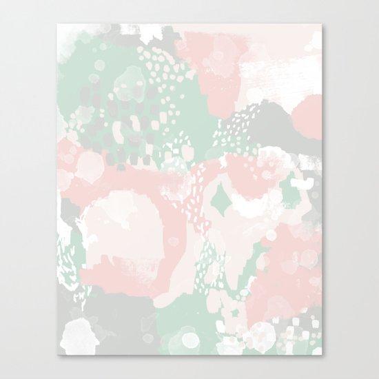Alexei - abstract minimal modern painting splash dots stripes painterly art Canvas Print