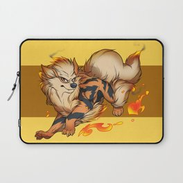 Fluffy fire dog Laptop Sleeve
