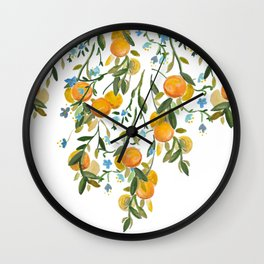 A Bit of Spring and Sushine Trailing Oranges Wall Clock